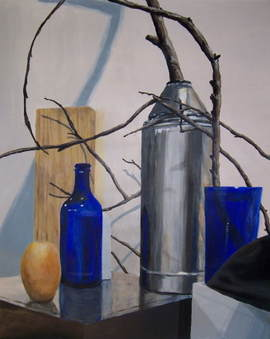 Two Blue Bottles acrylic