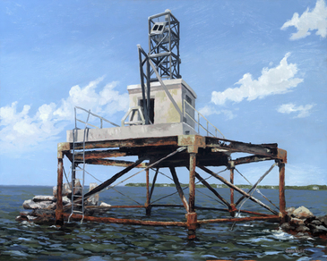 Benoni Point Light oil painting