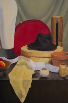 Black Hat oil painting