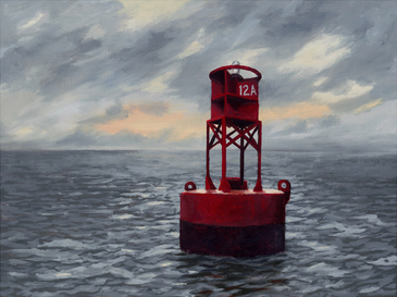 Buoy 12A oil painting