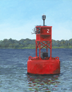 Buoy 2 oil painting