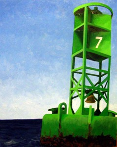 Buoy 7 oil painting