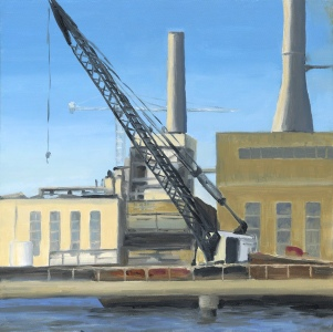 Savannah Dock with Crane oil painting