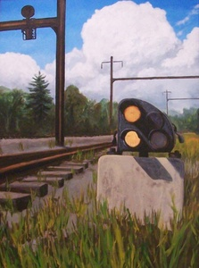 Ground Signal oil painting