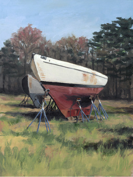 Hull on Jacks oil painting