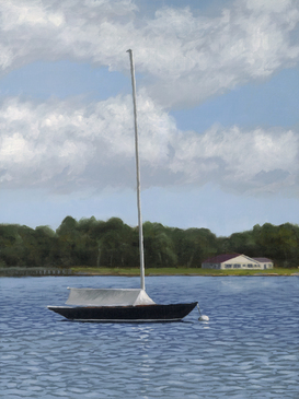 One Moored oil painting
