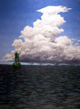 Stormfront Buoy oil painting