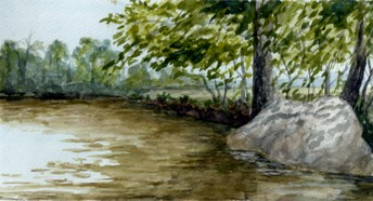 Boulder Creek watercolor