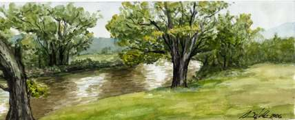 Creek Trees watercolor