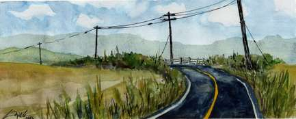 Road watercolor