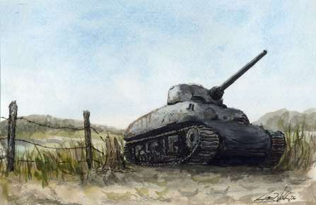 Tank watercolor